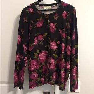 Jones New York Floral Plus Size Women's Cardigan